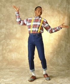 "In 1990's, this was the representation of a nerd. In 2010, this is ""awesome hipster"" look. I still prefer Steve Urkel to the hipsters."