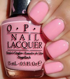 This is Pink-ing of You, a permanent color in the OPI line. It's a beautiful light barbie pink jelly crème. It applies amazingly, just like most jelly crèmes do for me. Very shiny and self-leveling. No streaks here. This is three thin coats.