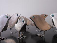 Peeps metal sculptures by Rob Glebe