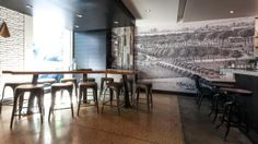 Kaper Design; Restaurant & Hospitality Design Inspiration: Hock Farms / black and white mural
