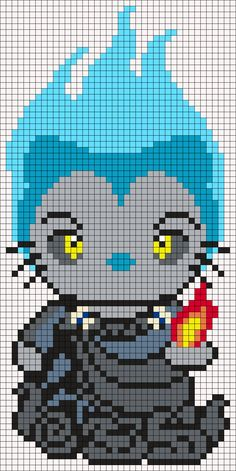 Hades (from Hercules) Hello Kitty Perler Bead Pattern by Melissa Pious