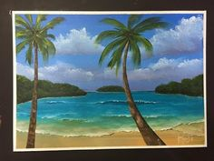 """How to paint a scenery for beginners """"the fore ground"""" PART 3 Easy Canvas Painting, Acrylic Painting Tutorials, Painting Videos, Painting Lessons, Acrylic Art, Painting & Drawing, Canvas Art, Pix Art, Beach Scenes"""