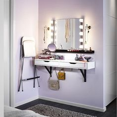 conquer bedroom clutter. EKBY Alex shelf & Valter brackets: 119cm x 28cm…