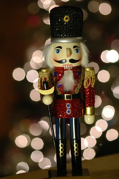 When I see Nutcrackers I think of my brothers - not that they're nuts but my Mom started collecting them for the twins!