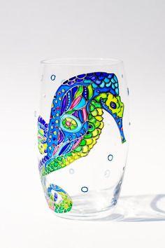 Hawaii Dolphin Sea Life Ocean Art Juice Highball Glass