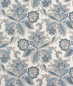 Waverly Treasure Trove Sapphire Fabric - $32.55   onlinefabricstore.net