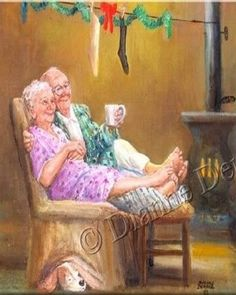 Growing old together Vieux Couples, Old Couples, Art Wall Kids, Art For Kids, Wall Art, Growing Old Together, Old Folks, The Golden Years, Everlasting Love