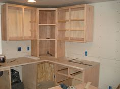 Here's a record of the assorted varieties and sizes of kitchen cupboards and equipment we feature in inventory. Corner Kitchen Cabinet, Pallet Kitchen, Kitchen Design Small, Kitchen Remodel Small, Rustic Kitchen Cabinets, Kitchen Pantry Design, Building Kitchen Cabinets, Diy Kitchen, Rustic Kitchen