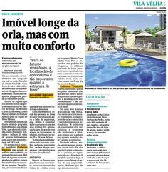 Jornal A Gazeta 08/07/2012 - Caderno Regional Vila Velha