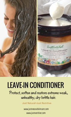 Seals cuticles for extra silky hair, restores hydration and protein, protects against heat, and detangles, defrizzes, and adds sleek nutritive shine with our leave in conditioner.