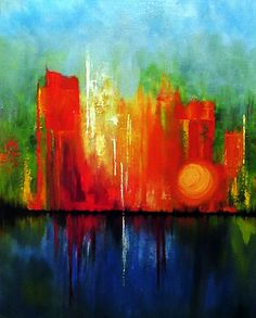 Oil and acrylic on canvas by Julie Lourenco