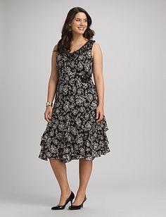Plus Size Ruffled Floral Dress | Dressbarn http://www.dressbarn.com/detail/plus-size-ruffled-floral-dress/101971427/165