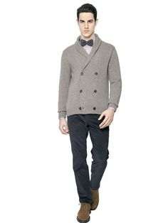 Double Breast Cashmere Cardigan