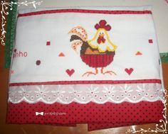 """Paninho de prato """"galinha coloridinha"""""""