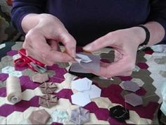 ▶ 1) Traditional English Hexagon Patchwork Demonstration - YouTube