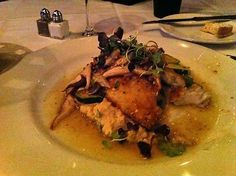 Lake Superior Walleye with Lobster Bisque Mashed Potatoes
