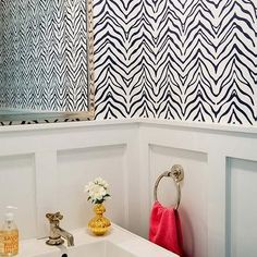 Powder Room with Board and Batten Walls