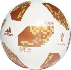adidas 2018 Fifa World Cup Russia Telstar Glider Soccer Ball, White/Gold
