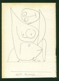 Paul Klee - Miss Engel (1939)