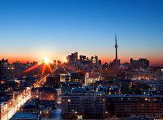 Toronto Skyline Sunrise Gallery Wrap on Etsy, $307.15