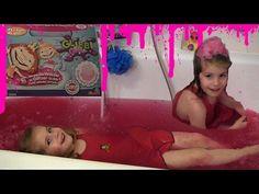 Glibbi Glitter Badespaß - Verwandelt Wasser in rosa Glitzer-Schleim mit Zuckerwatten-Duft - YouTube