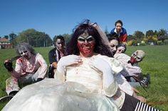 David, who performs in the Spookers cast as zombie bride Zombina