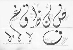 """nuqtaapp: """"We are going back to basics with our image of the week with this lovely illustration of how to construct letters in the Diwani script. Many thanks to Hamid Almosawy from the UK for posting. Calligraphy Tattoo, Calligraphy Tutorial, Arabic Calligraphy Design, Persian Calligraphy, Arabic Calligraphy Art, Arabic Art, Calligraphy Letters, Arabic Design, Farsi Tattoo"""
