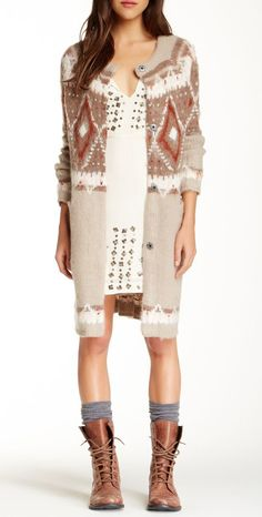Free People | Frosted Fair Isle Cardigan