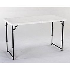 Lifetime 4 Foot Adjustable Height Fold In Half Table By Lifetime