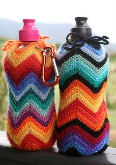 Crochet bottle holder ...No Pattern...