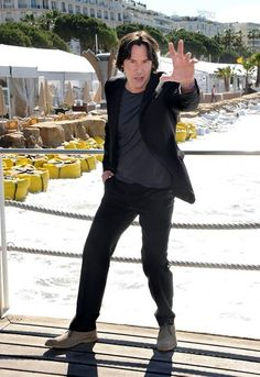 Keanu Reeves poses at the photo call for his upcoming movie 'Man of Tai Chi' during the 66th Annual Cannes Film Festival on May 20, 2013.