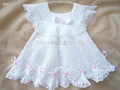 2015 Baby girl dress Handmade Dress Pattern home dress newborn frock infant clothes first outfit lace crocheted dress d6