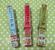 Painted chip clips #diy