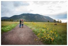 The R2 Studio | Flagstaff Engagement Session | Sunflower photos | Mountain Photos