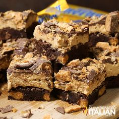 A chocolate fudgy brownie bursting with Butterfingers is topped with Butterfinger frosting, milk chocolate and more Butterfingers. This is a taste sensation that you will be making for years to come.