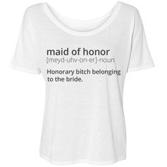 Maid of Honor Definition | Let's be honest, the maid of honor is essentially a glorified tool of the bride, meant to support the crazy. Get this gift for your MOH and show her you really care.