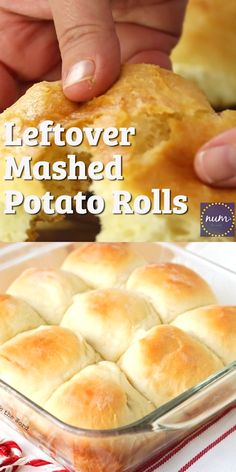 Leftover Mashed Potatoes The amazing thing is that no matter what flavor your mashed potatoes were, these Leftover Mashed Potato rolls turn out absolutely delicious. Leftover Baked Potatoes, Left Over Mashed Potatoes, Leftover Mashed Potato Pancakes, Mashed Potato Patties, Baked Mashed Potatoes, Yeast Bread Recipes, No Yeast Bread, Bread Baking, Baking Soda