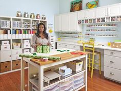 Creating A Dream Craft Room - 12 Amazing Craft Room Ideas on HGTV. Creating A Dream Craft Room  Next, Regina filled boxes, baskets, and jars with all the supplies she could ever need, from paper punches to pushpins, and organized them on shelves and in cabinets. Even if you don't have a room dedicated to DIY, you're bound to find some crafty ideas for storing and sorting in this space. TFS HGTV.