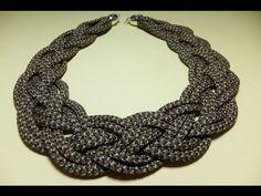 Collar con cordones de zapatillas. - YouTube Crochet Necklace, Necklace Tutorial, Lanyard Necklace, Necklaces, Crochet Collar