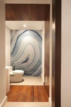 This agate wall mural could transform a modern bathroom.