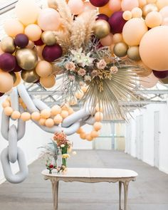 We have been dying to share our all time favorite balloon install from the She's a beaut. Head on over to to see the full feature! Co-Created by JLN Studios Hanging Balloons, Balloon Backdrop, Balloon Centerpieces, Balloon Columns, Balloon Garland, Balloon Decorations, Custom Balloons, Latex Balloons, Deco Ballon