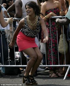 She can even do the Twist! Limber Konnie Huq shows off her dancing skills yet again at London X Factor audition Blue Peter Presenters, Dress Skirt, Bodycon Dress, Hottest Female Celebrities, Tv Presenters, Mini Skirts, Dance, London, Fran Drescher