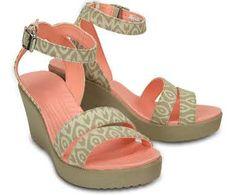 Crocs Women's Leigh Graphic Wedge| Women's Comfortable Wedges | Crocs Official Site