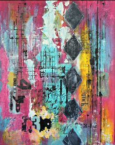 Blue Pink Abstract Painting On Canvas By #crystalreneefineart. Art For  Home. Home Decor. Contemporary Art. Abstract Art. | Pinterest