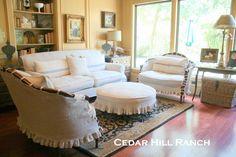 Cedar Hill Ranch: French Linen Slipcovers