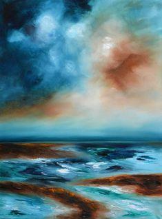 Original Seascape Painting by Niki Katiki   Abstract Art on Canvas   Storm On The Horizon