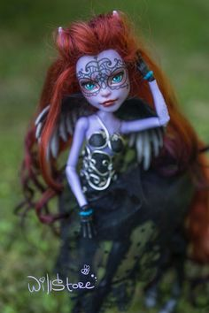 "Monster High Repaint Custom OOAK ""Agatha"" by WillStore Mattel Avea Trotter"