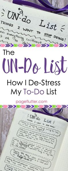 pageflutter.com | My bullet journal list of things to STOP doing. Productivity needs a break, too!
