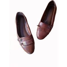 Worth the Tassel Flats (93 BRL) ❤ liked on Polyvore featuring shoes, flats, footwear, обувь, cognac loafers, brown loafers, flat pumps, leather tassel loafers and leather shoes