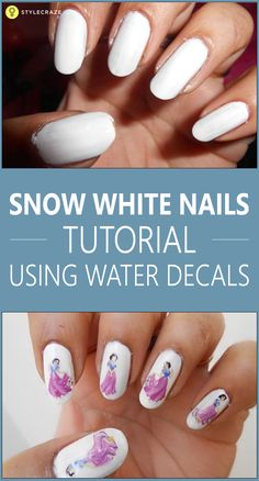 Today we are doing snow white nails using these decals. Snow-white is loved by all the girls and all of us have listened to her fairy tale when we are young.